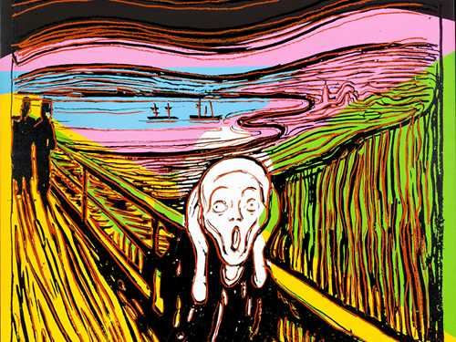 Andy Warhol: The Scream (After Munch), 1984. © The Andy Warhol Foundation for the Visual Arts.