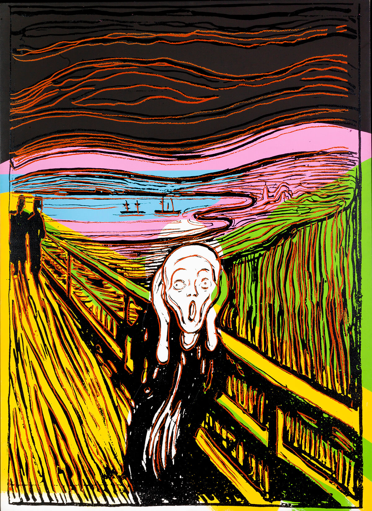 Andy Warhol: The Scream (After Munch), 1984. © The Andy Warhol Foundation for the Visual Arts