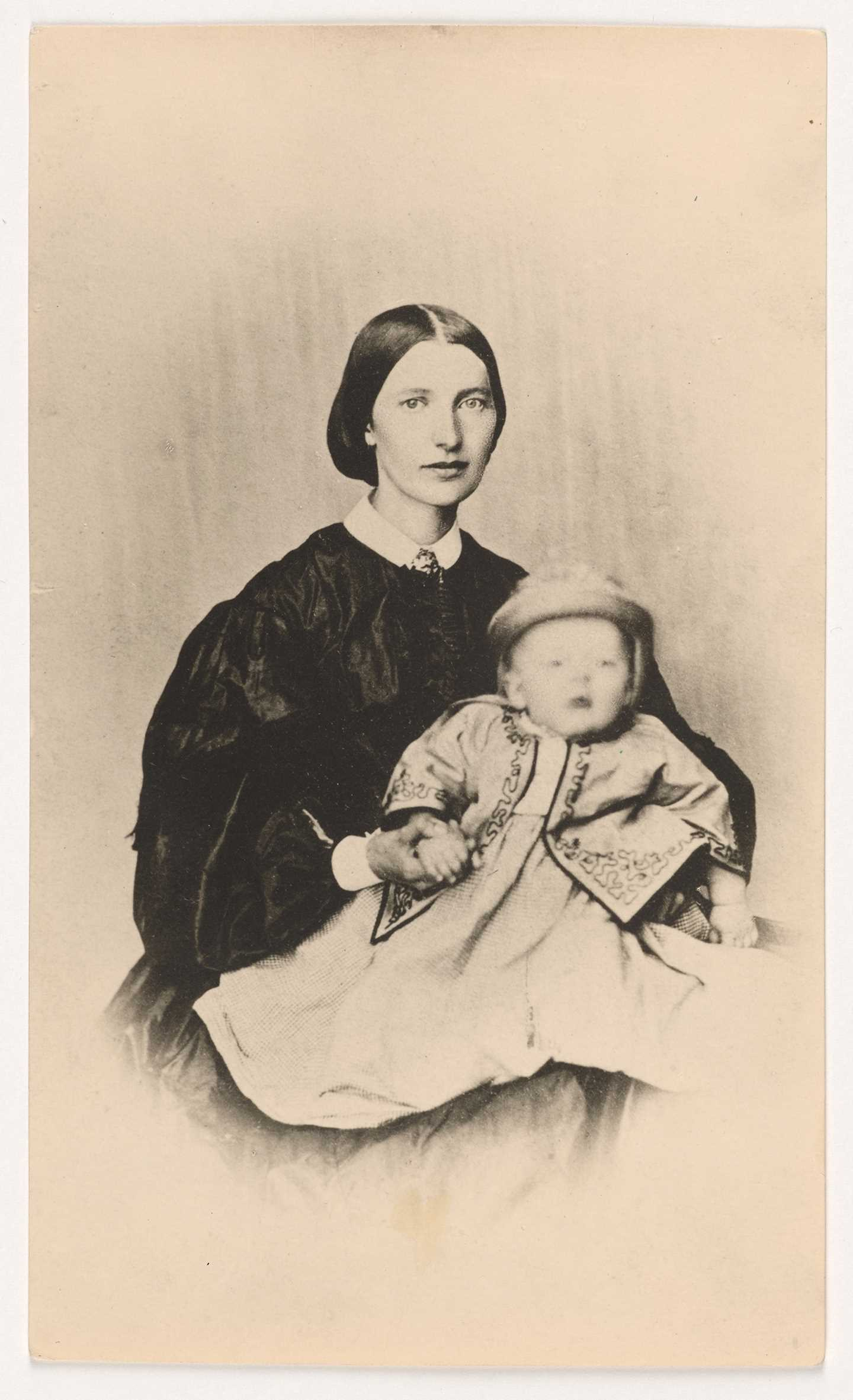 Laura Cathrine Munch with little Edvard on her lap, 1864. Photo © Munchmuseet