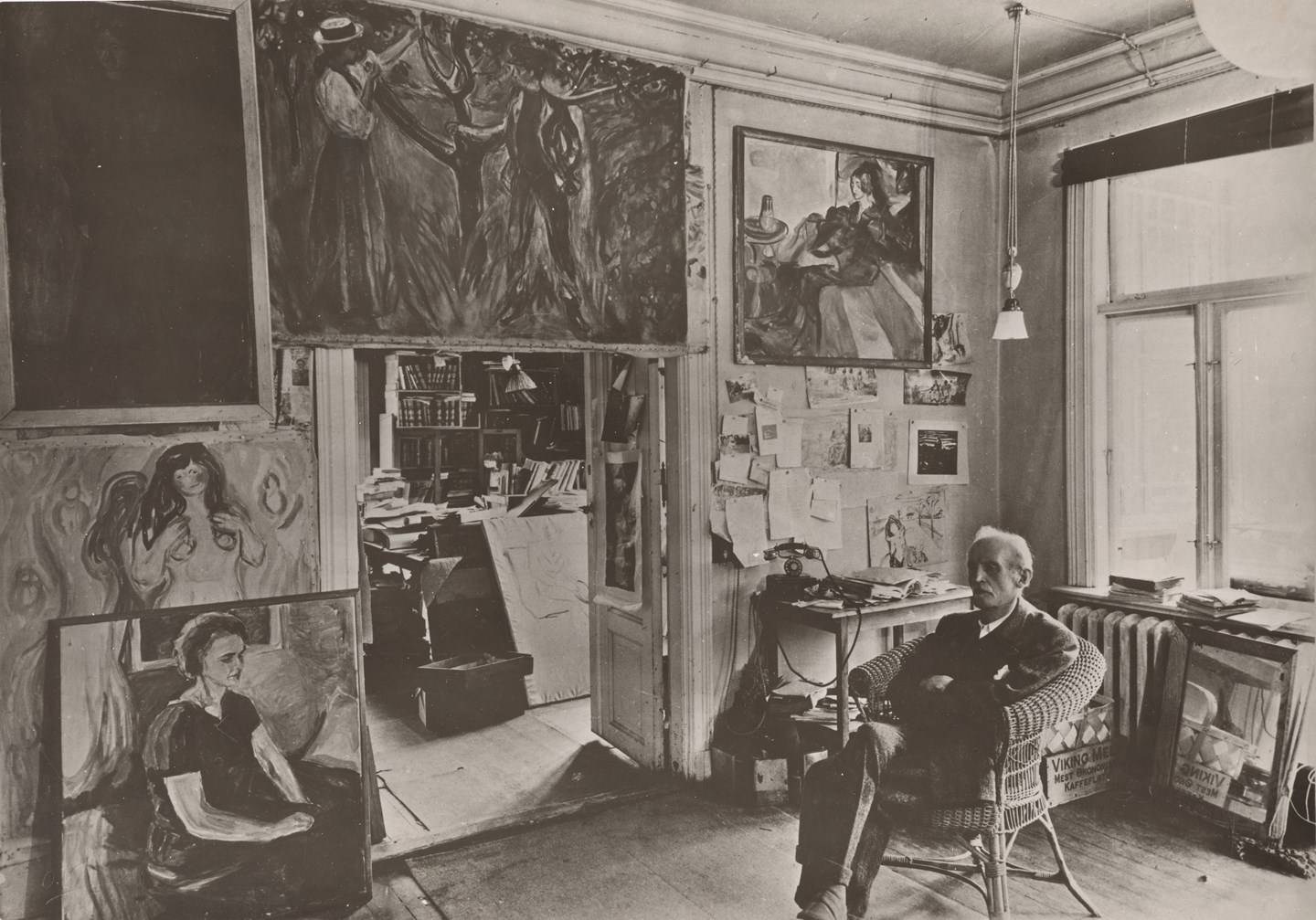 Munch på Ekely, 1943. Photo © Munchmuseet