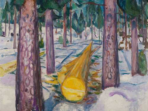 Edvard Munch: The Yellow Log. Oil on canvas, 1912. Photo © Munchmuseet