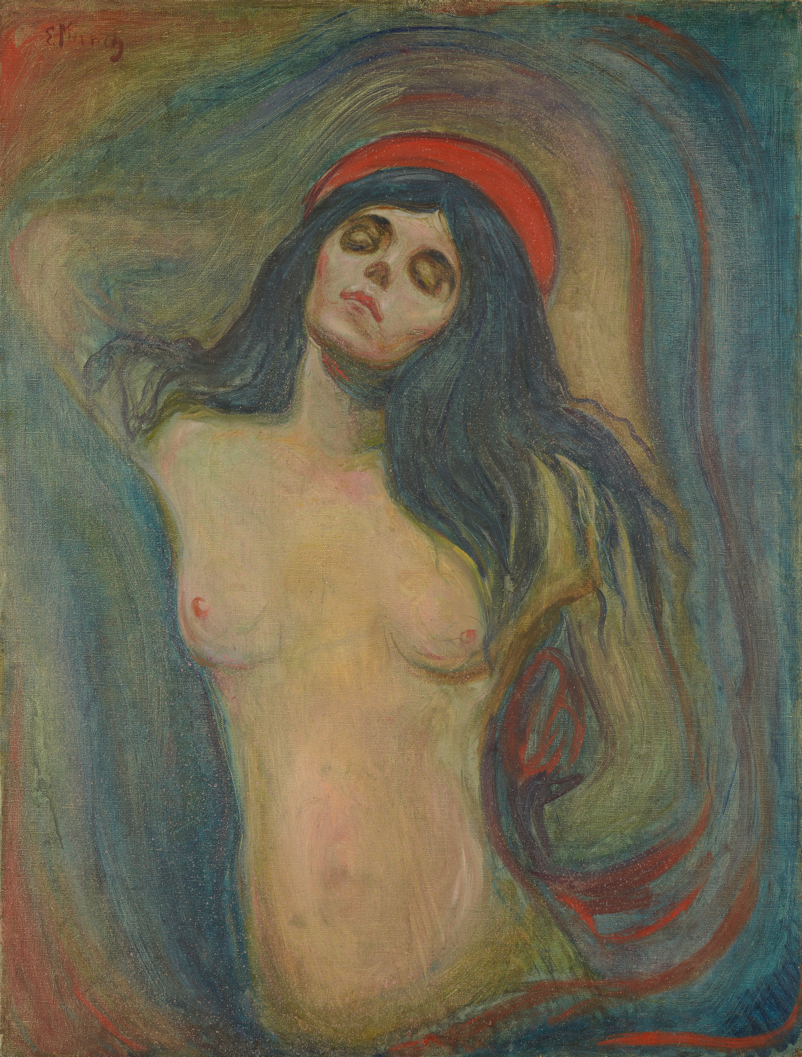 Edvard Munch: Madonna. Oil on canvas, 1894. Photo © Munchmuseet
