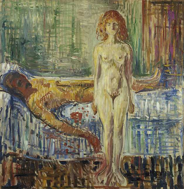 Edvard Munch: The Death of Marat (1907). Oil on canvas, 153 × 149 cm. © Munchmuseet