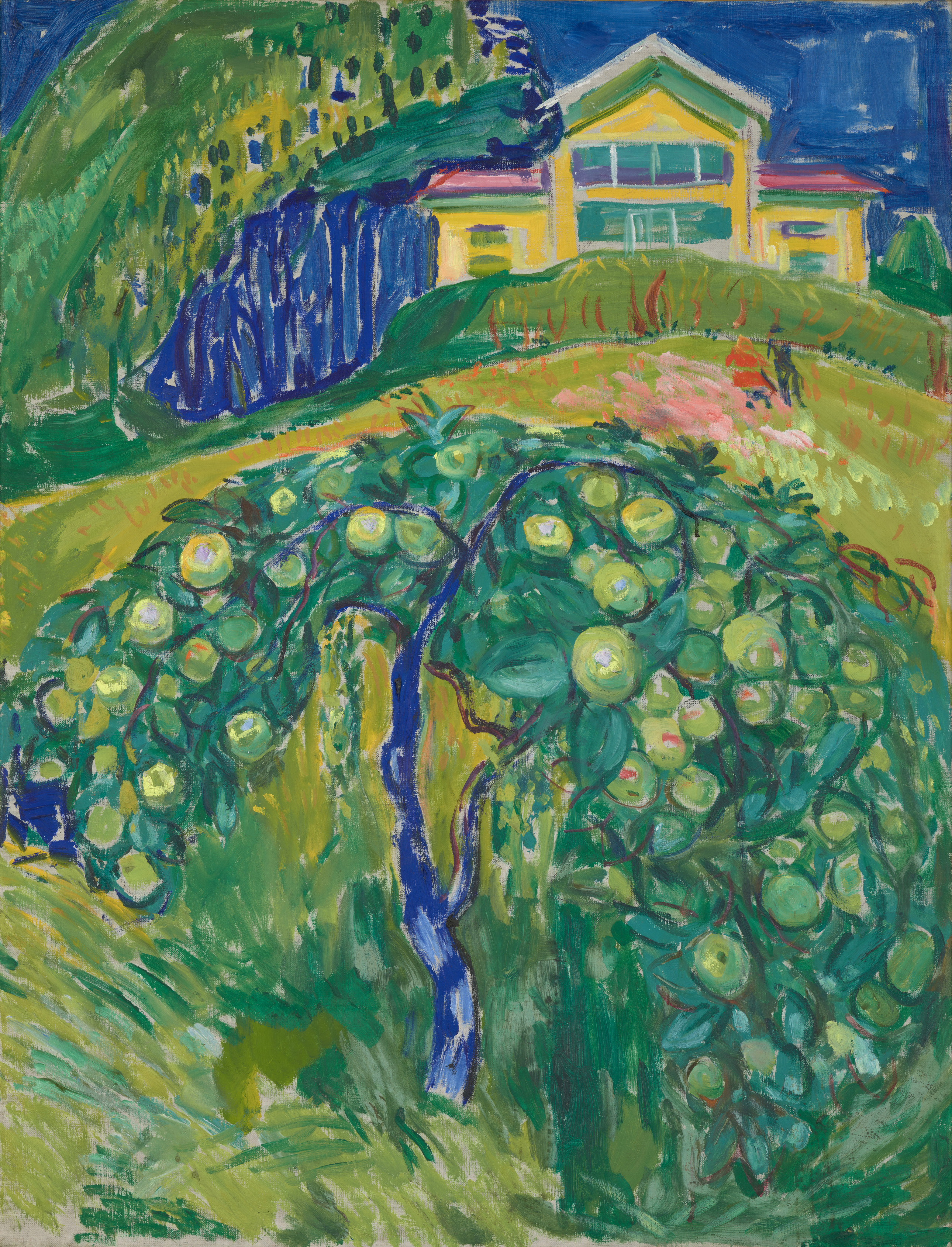 Edvard Munch: Apple Tree in the Garden. Oil on canvas, 1932-42. Photo © Munchmuseet
