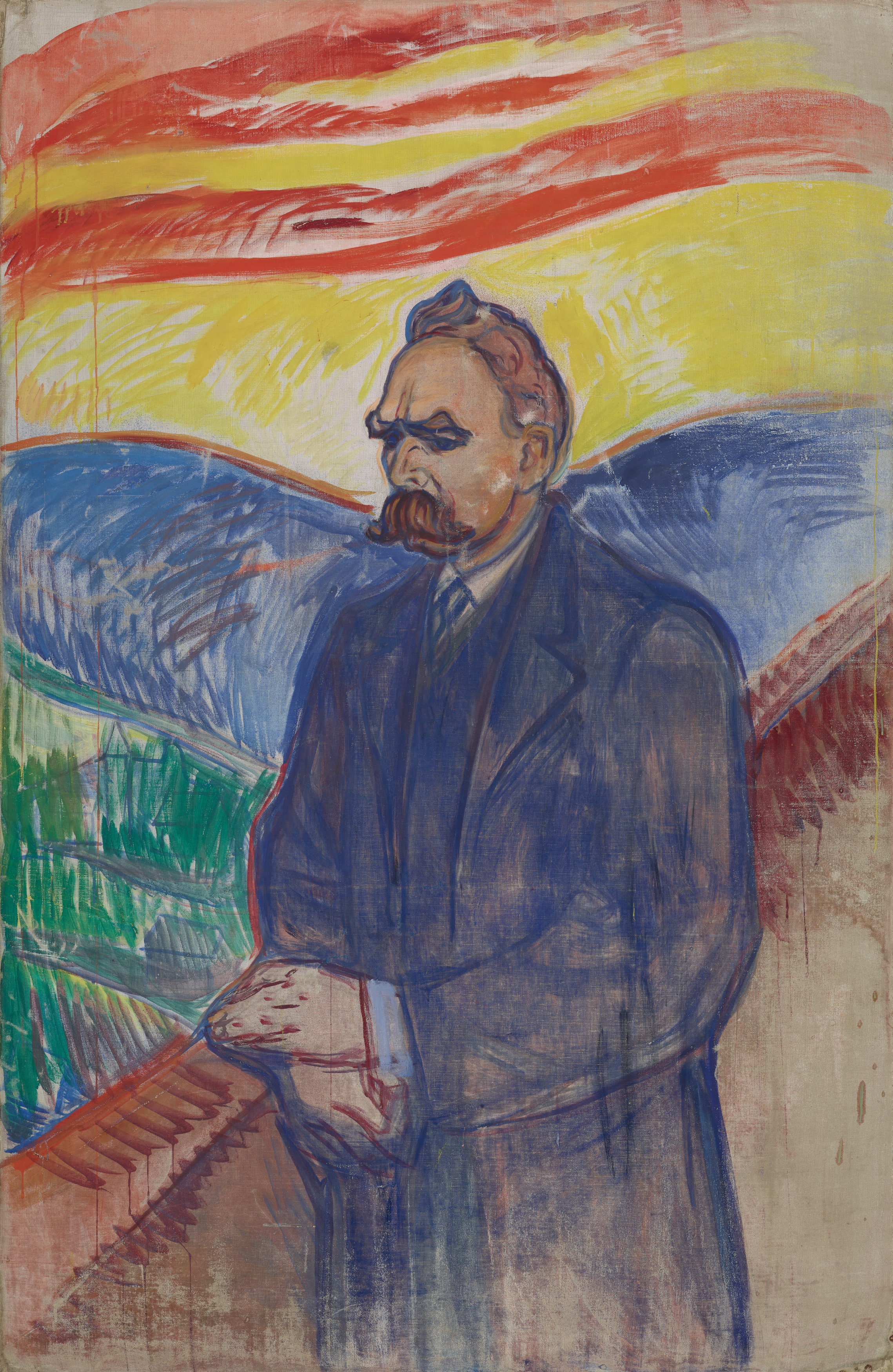 Edvard Munch: Friedrich Nietzsche. Oil and tempera on canvas, 1906. Photo © Munchmuseet