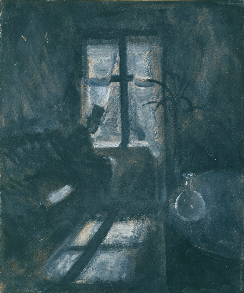 Edvard Munch: Night in Saint-Cloud. Oil on paper, 1892. Photo © Munchmuseet