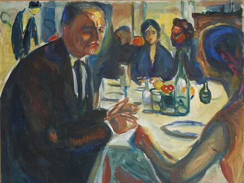 Edvard Munch: Self-Portrait at the Wedding Table. Oil on canvas, 1925–26. Photo © Munchmuseet