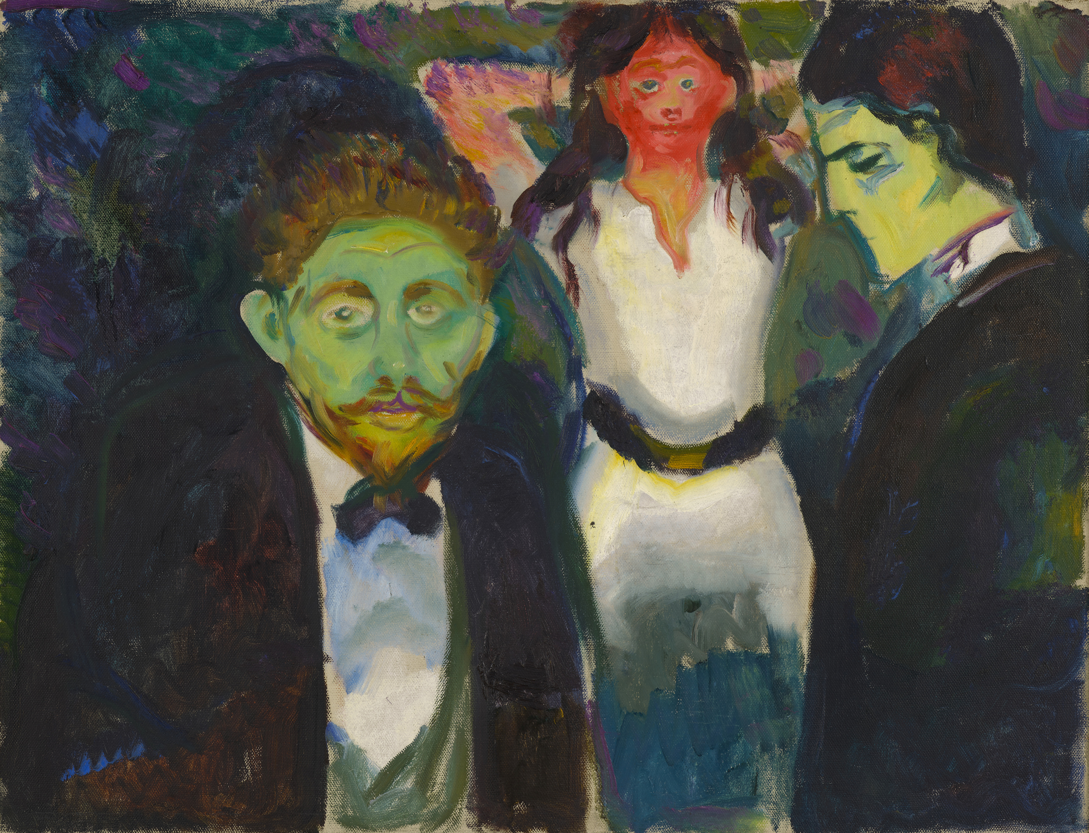 Edvard Munch: Jealousy. Oil on canvas, 1913. Photo © Munchmuseet