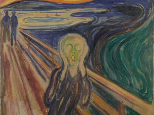 Edvard Munch: The Scream. Tempera and oil on unprimed cardboard, 1910? Photo: Munchmuseet