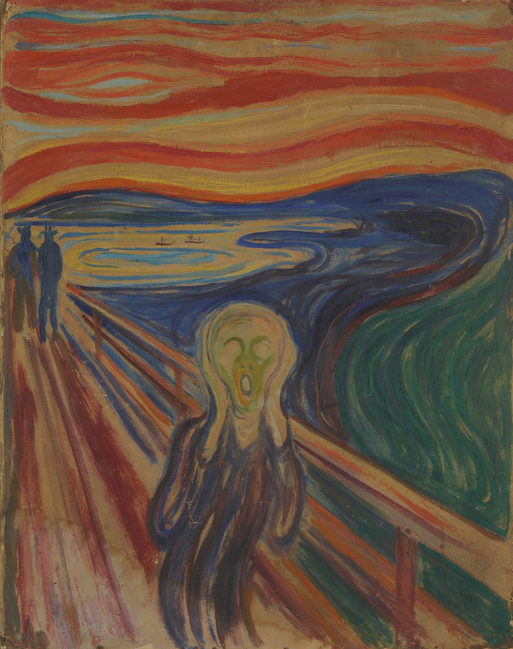 Edvard Munch: The Scream. Tempera and oil on unprimed cardboard, 1910? Photo: Munchmuseet.