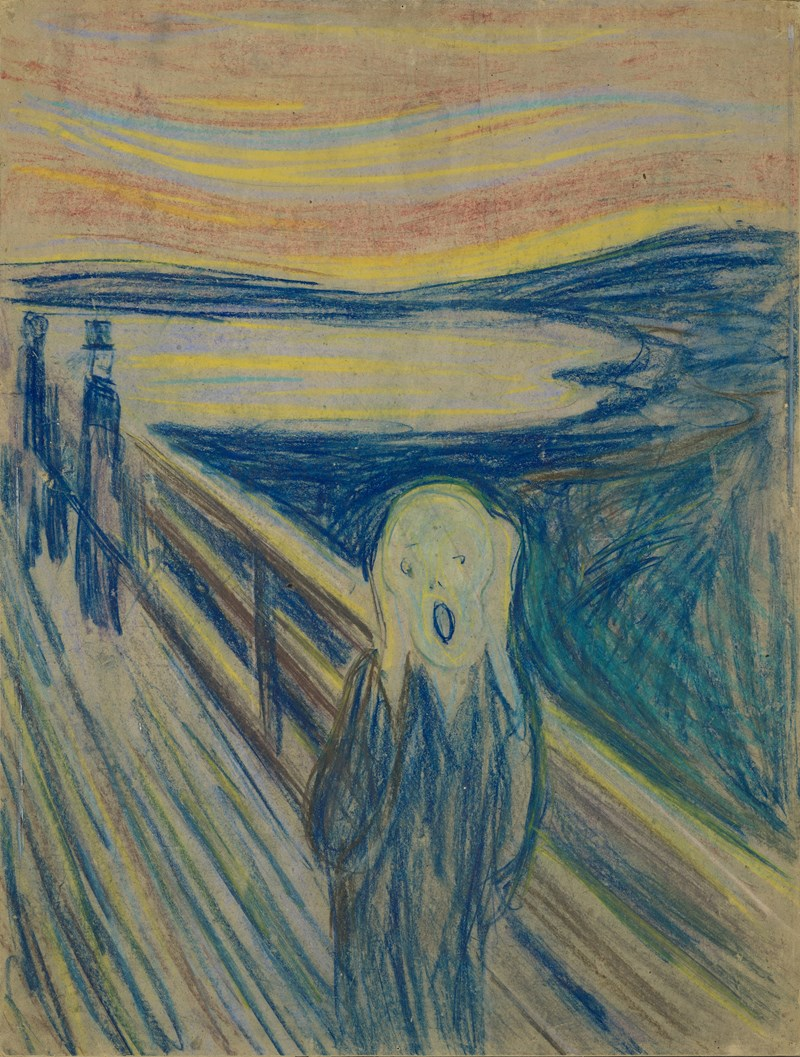 Edvard Munch: The Scream. Crayon, 1893 (probably). Photo © Munchmuseet