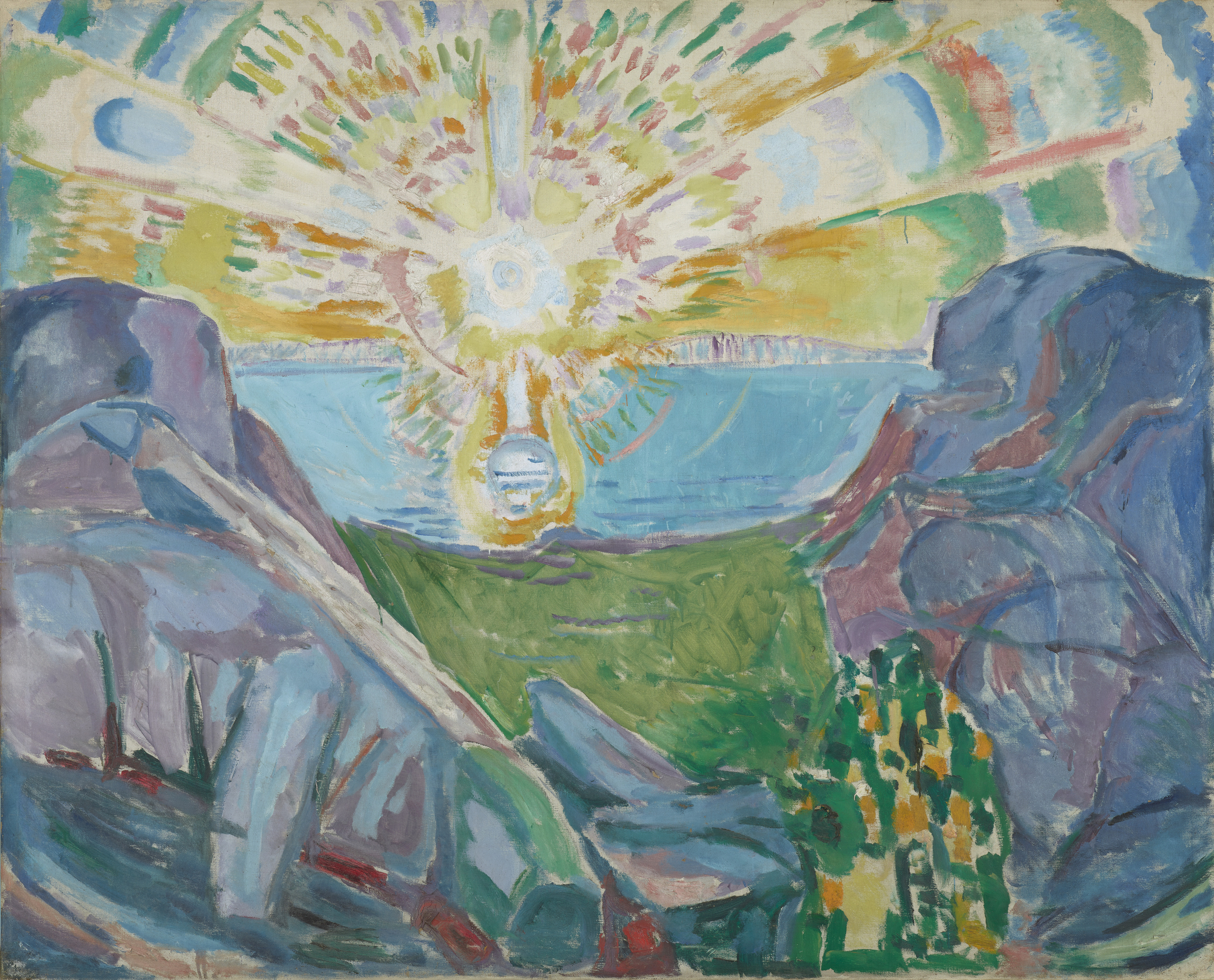 Edvard Munch: The Sun. Oil on canvas, 1910-13. Photo © Munchmuseet