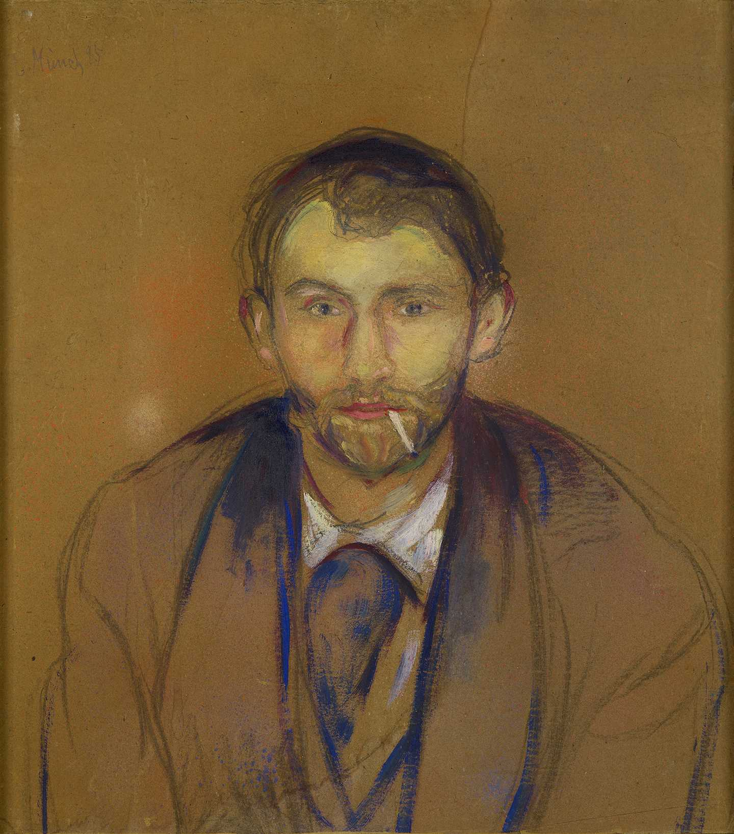 Edvard Munch: Stanislaw Przybyszewski. Oil and/or tempera unprimed cardboard, 1895. Photo © Munchmuseet