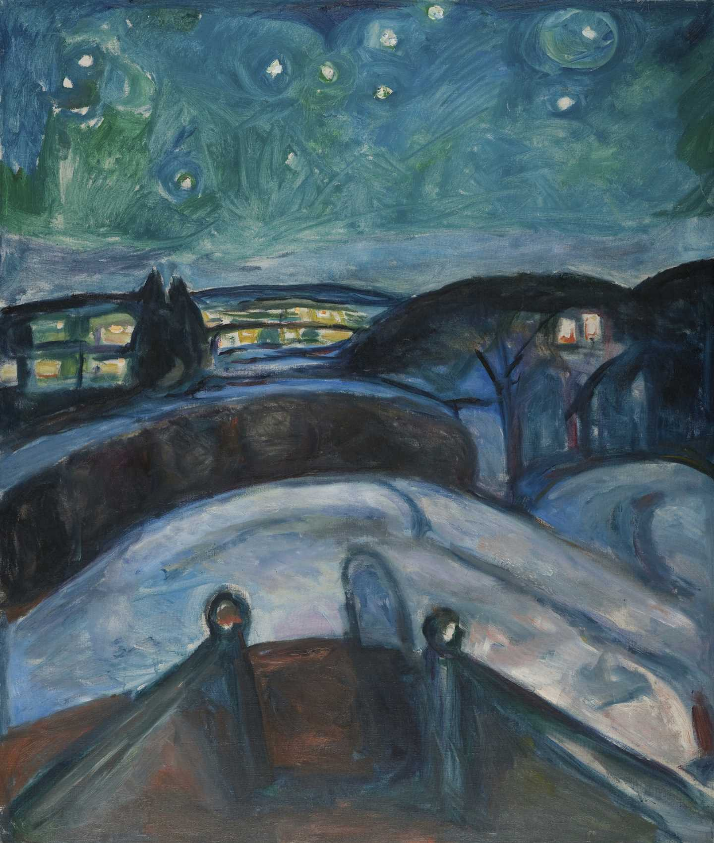 Edvard Munch: Starry Night. Oil on canvas, 1922-1924. Photo © Munchmuseet