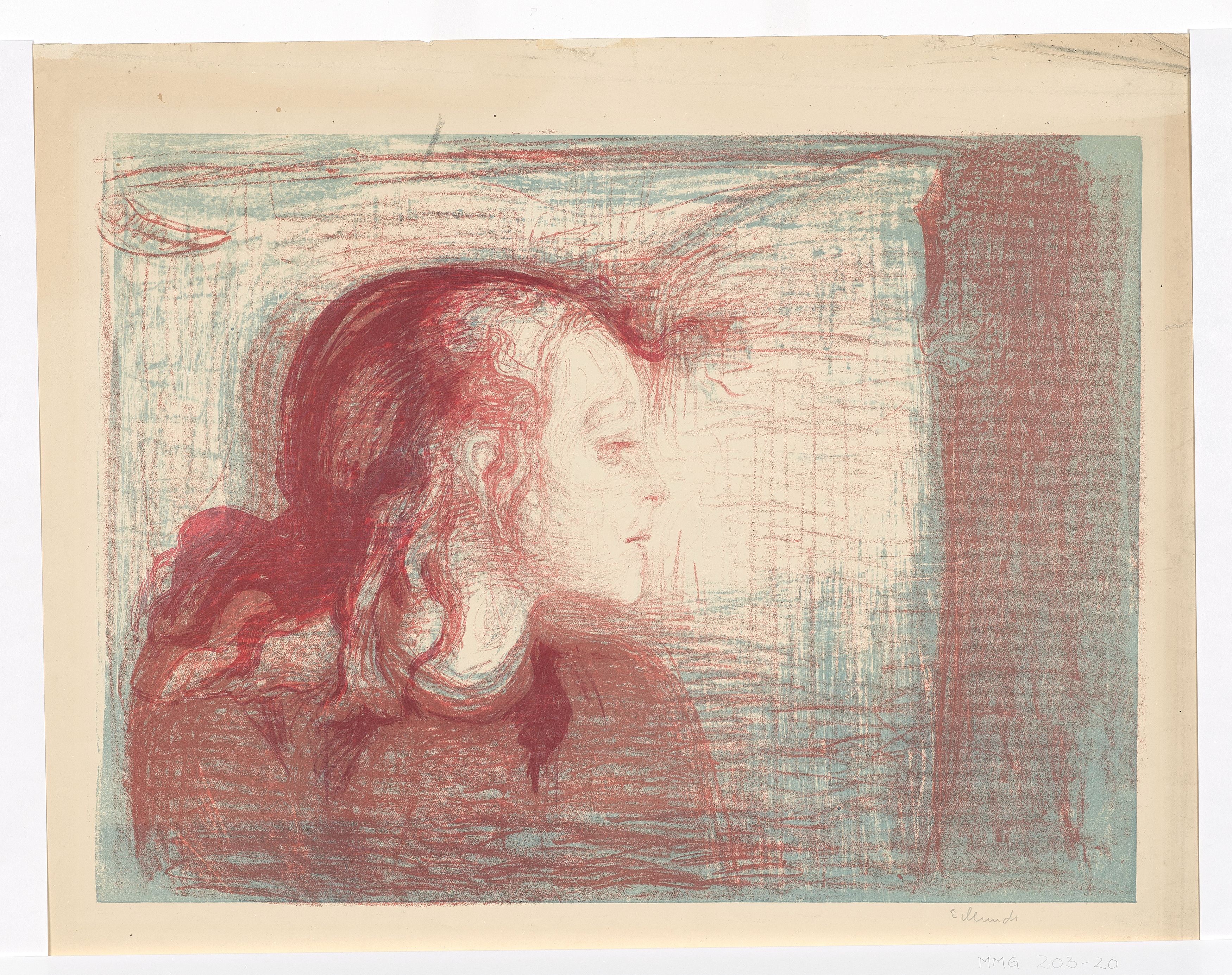 Edvard Munch: The Sick Child I. Lithograph, 1896. Photo © Munchmuseet