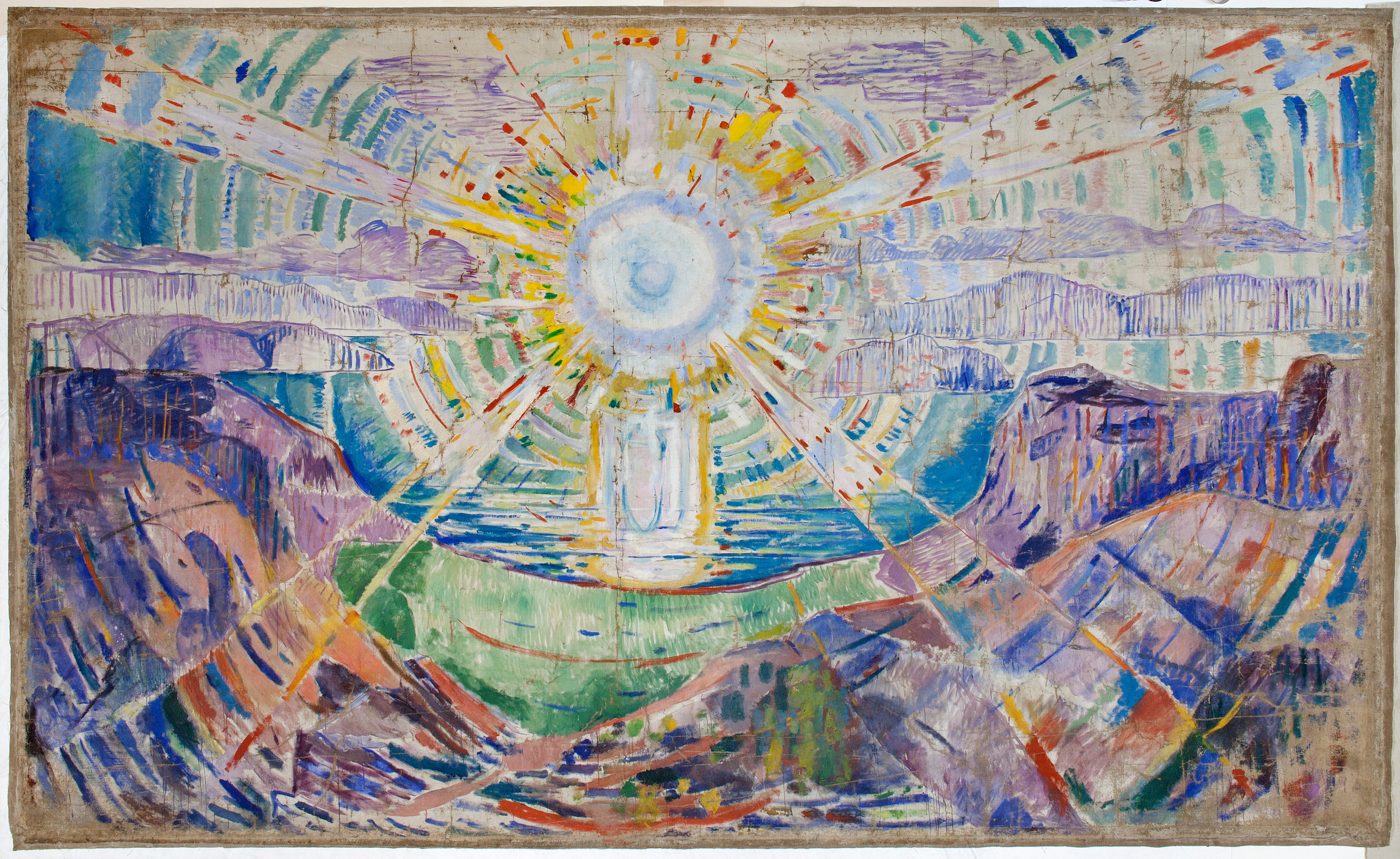 Edvard Munch: The Sun. Oil on unprimed linen canvas, 1912-13. Photo © Munchmuseet
