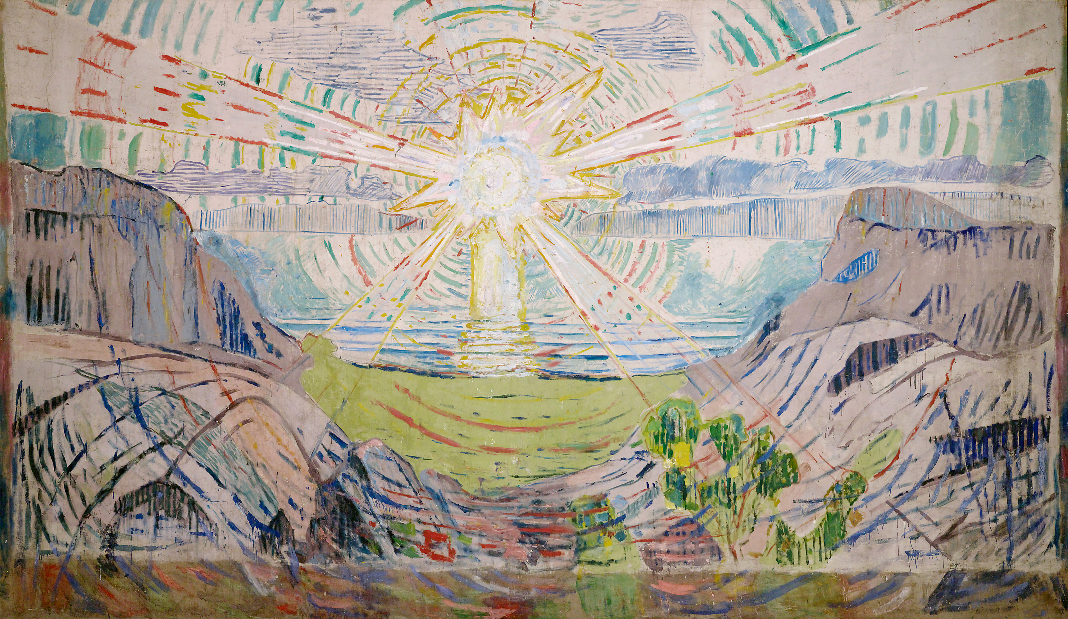 Edvard Munch: The Sun. Oil on canvas, 1910-1911. Photo  © Munchmuseet.
