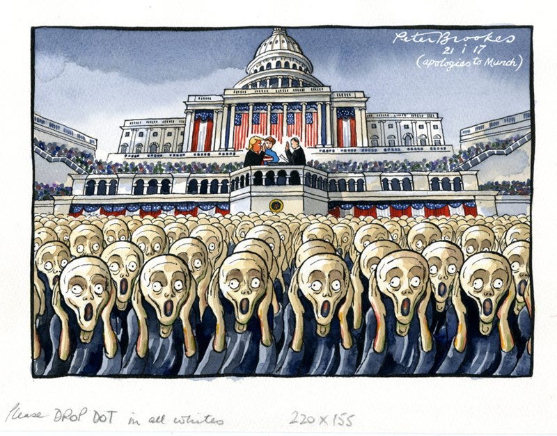 Peter Brookes (f. 1943), The Scream, 2017.